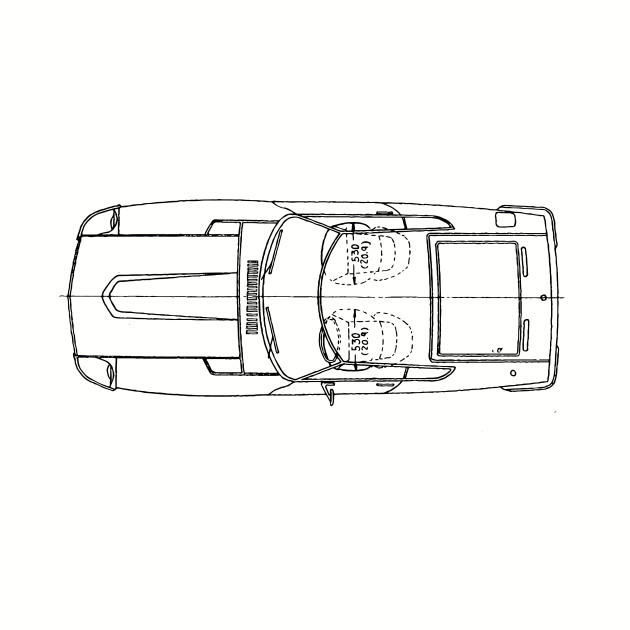 datsun 240z blueprint schematic in plan - datsun