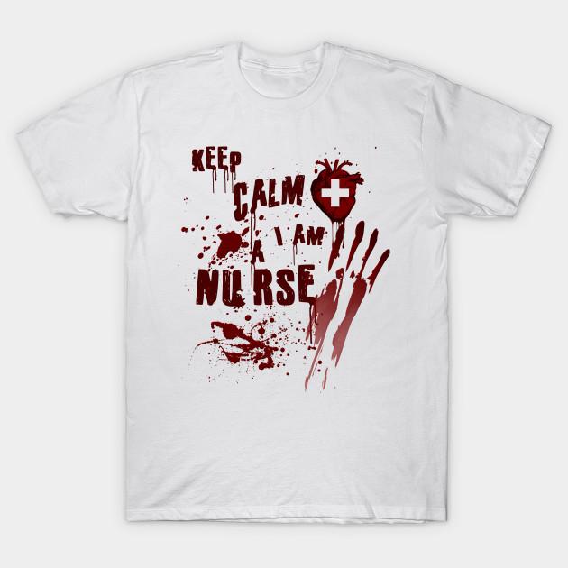 00861f981a3c4 Bloody Keep Calm I Am Nurse Scary Halloween Graphic - Halloween ...