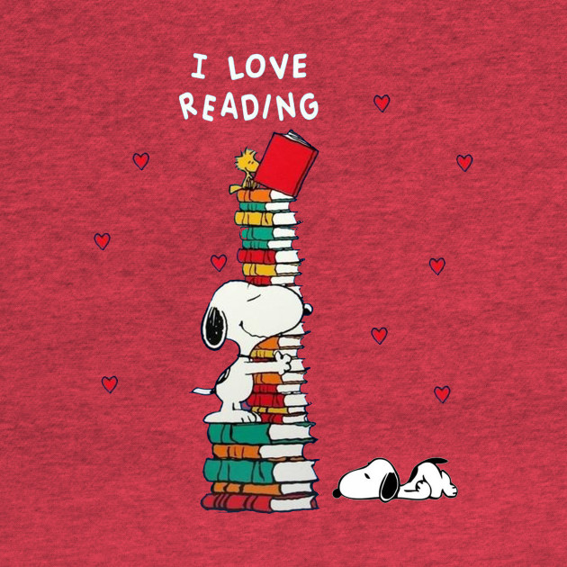snoopy-reading