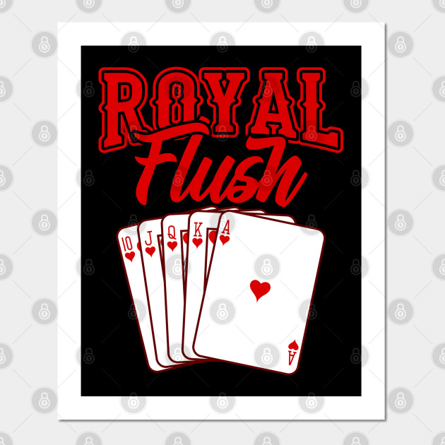 Poker royal flush-sweat à capuche