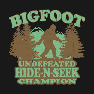 Funny - Bigfoot Hide-N-Seek Champion (distressed vintage) t-shirts