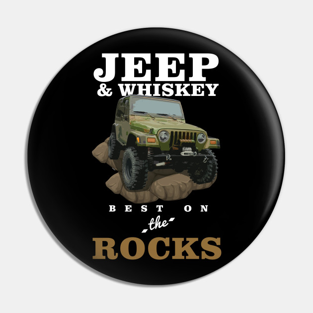 Jeep and Whiskey Both Better On The Rocks Vinyl Decal