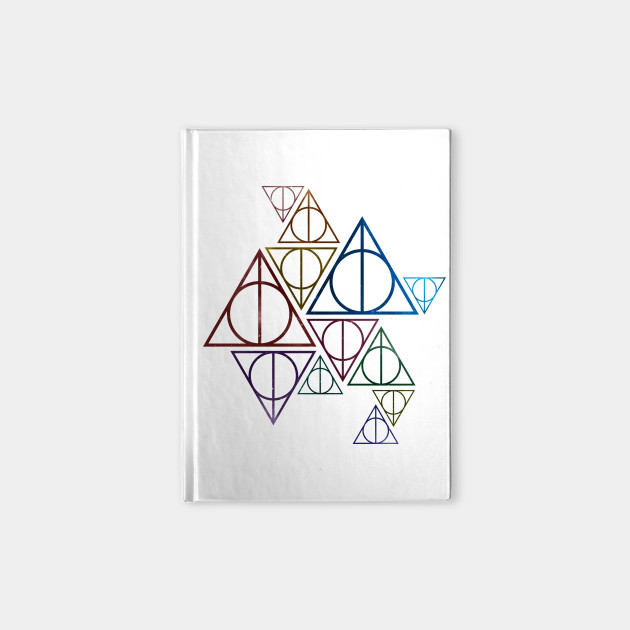 Harry Potter Deathly Hallows Group Symbols Colored Galaxy