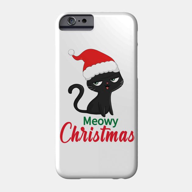 Meowy Christmas,Merry Christmas,Christmas Cat Phone Case