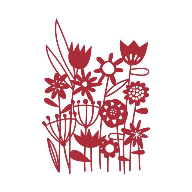 Flower Meadow Papercut