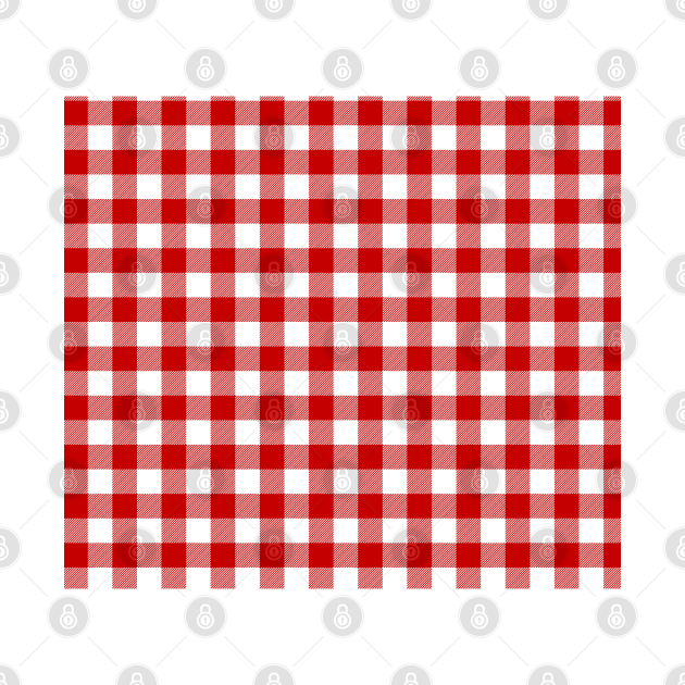 Red and White Pin Check Gingham