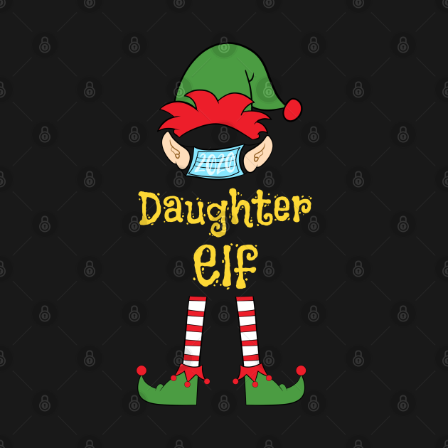 2020 Masked Christmas Elf Family Group Matching Shirts -  Daughter