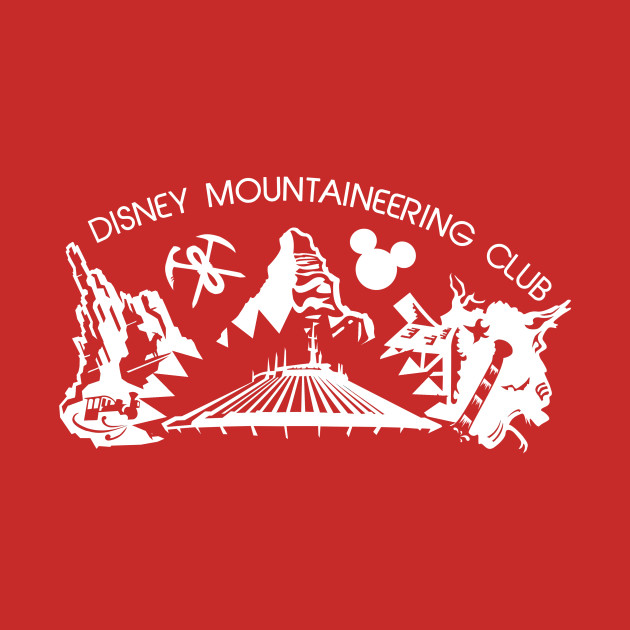 Disney Mountaineering Club (for dark shirts)