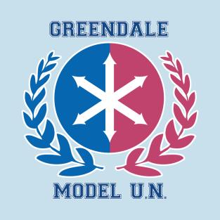 Greendale Model U.N. t-shirts