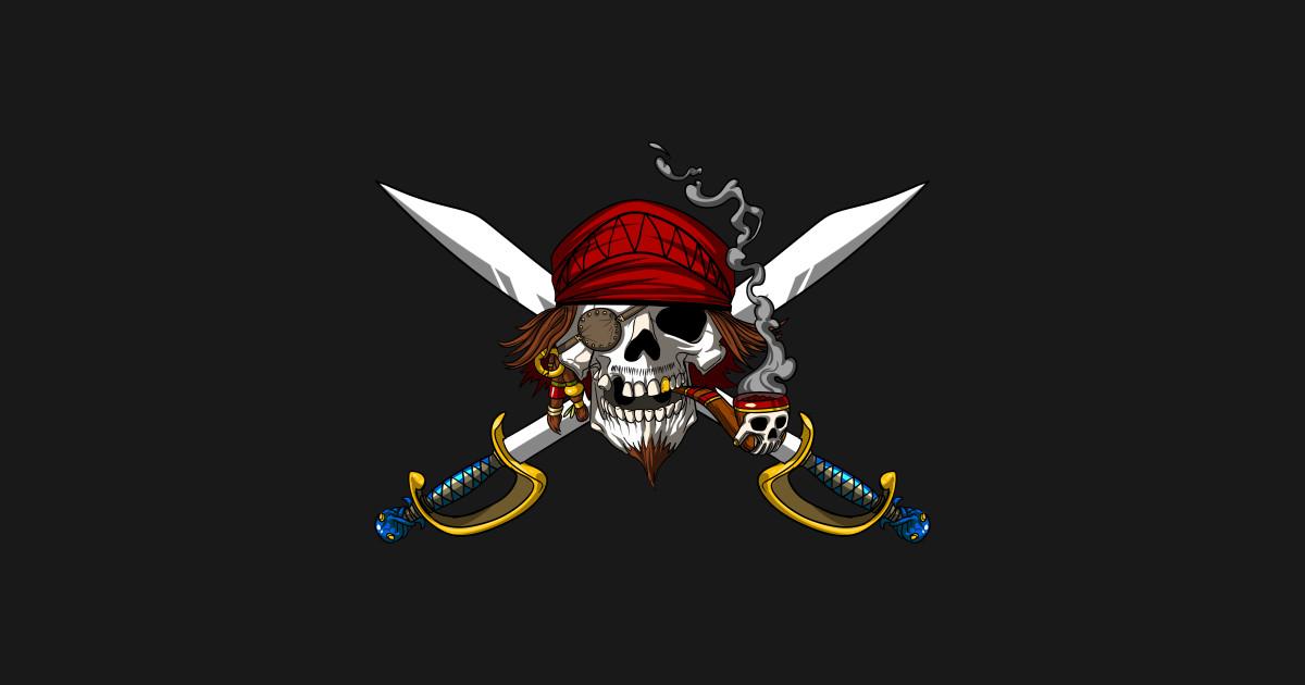 Pirate Flag Crossed Swords Skull Captain Costume Pirate