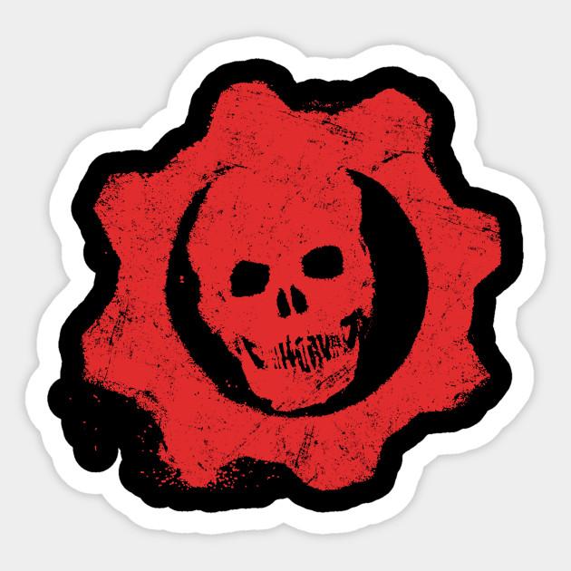 Gears Of War Vintage Symbol Symbol Sticker Teepublic