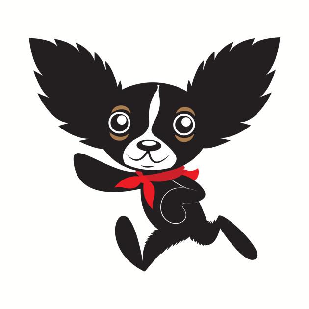 Chihuahua Hola Rico with red bandana jagged hair