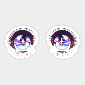 Anime Eyes 02 Sticker
