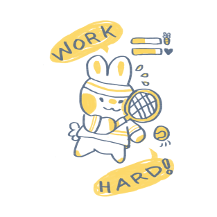 Work Hard Bunny t-shirts