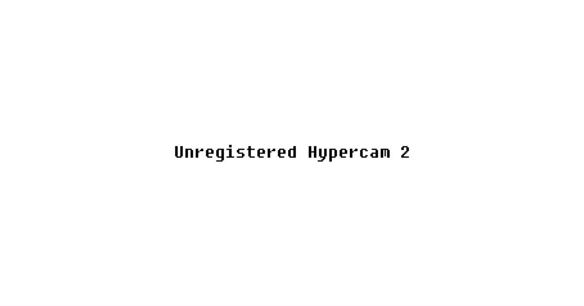 unregistered hypercam 2