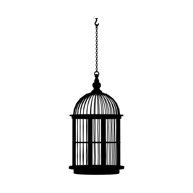 limited edition exclusive hanging bird cage silhouette hanging