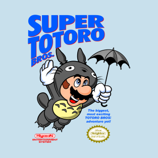 Super Totoro Bros. t-shirts