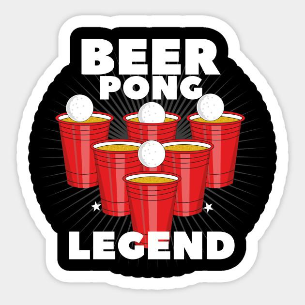 Beer Pong Legend Party Table Frat Gift