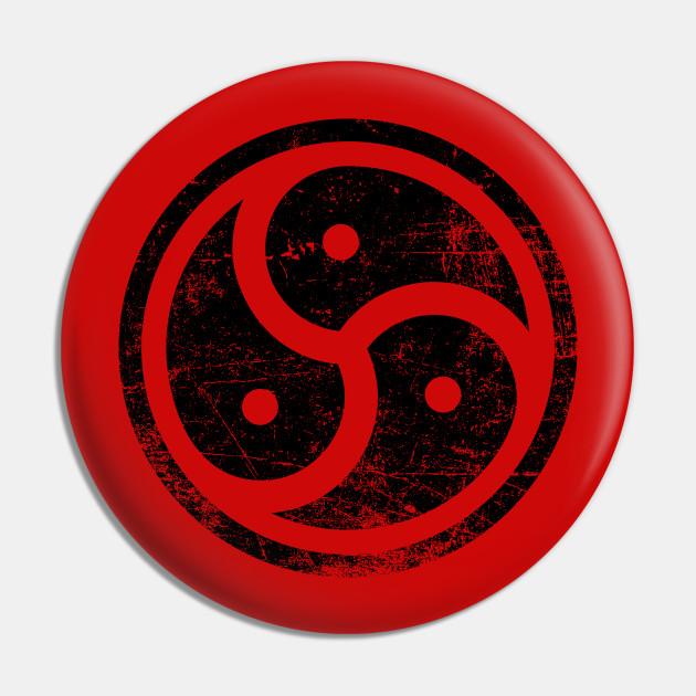 Triskelion BDSM Symbol Distressed Vintage