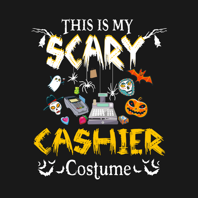 This Is My Scary Cashier Halloween Costume Funny Gift T Shirt optimized