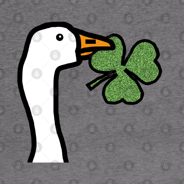 Portrait of a Goose Stealing a Shamrock