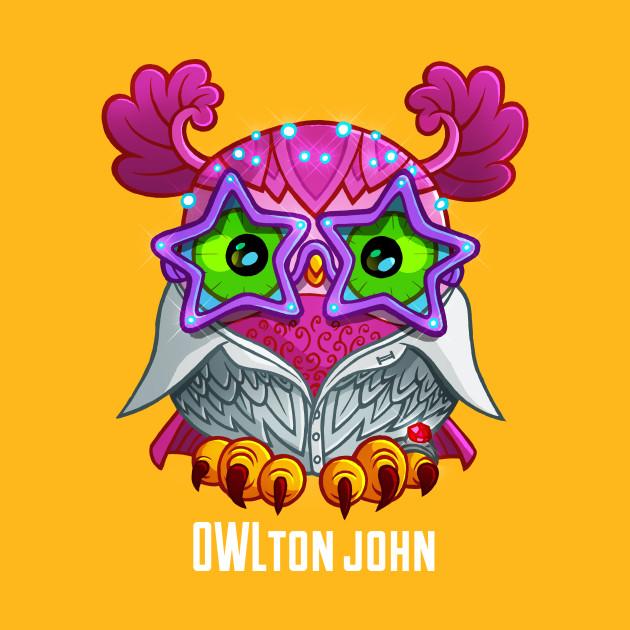 Owl ton john owl t shirt teepublic
