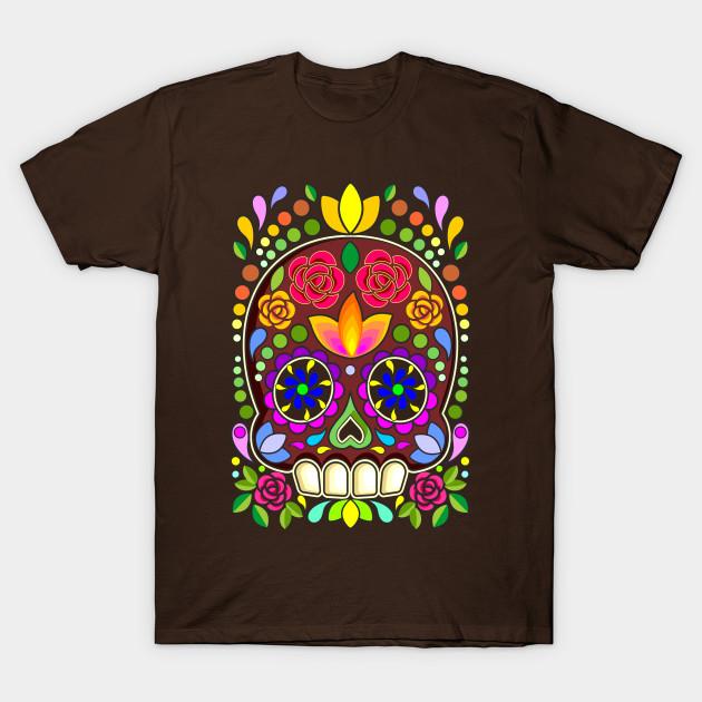 Sugar Skull Floral Art Mexican Calaveras