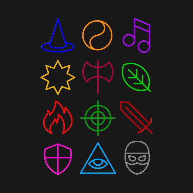 Class - Dungeons & Dragons Line Art Series