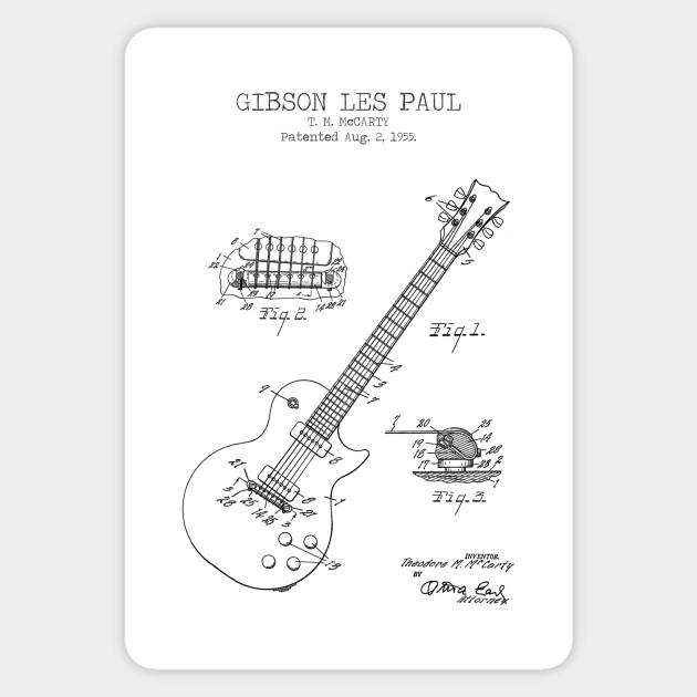 Electric Guitar Les Paul Musical Instrument Wall Art Sticker