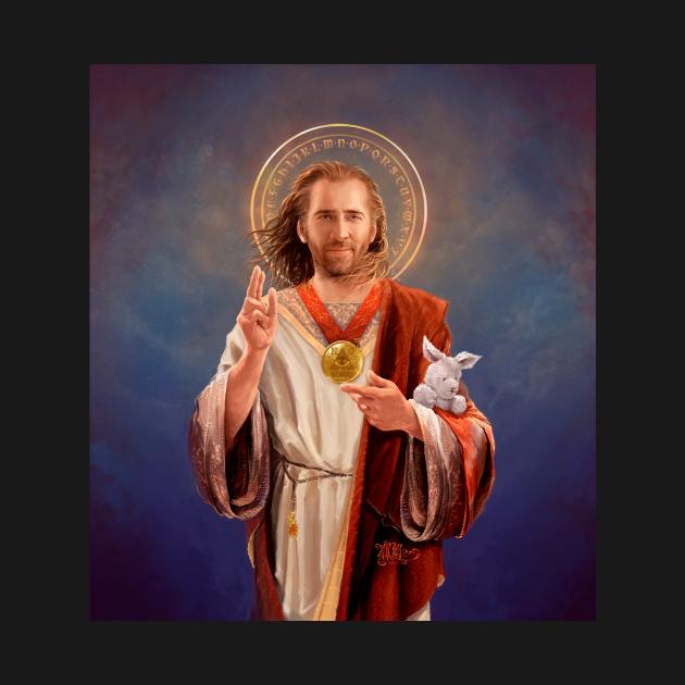 Saint Nicolas of Cage - Nic Cage Original Religious Painting