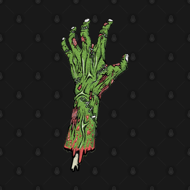 Zombie hand copping a feel
