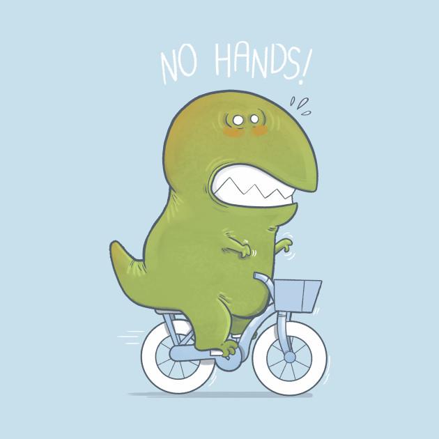 T-Rex tries biking