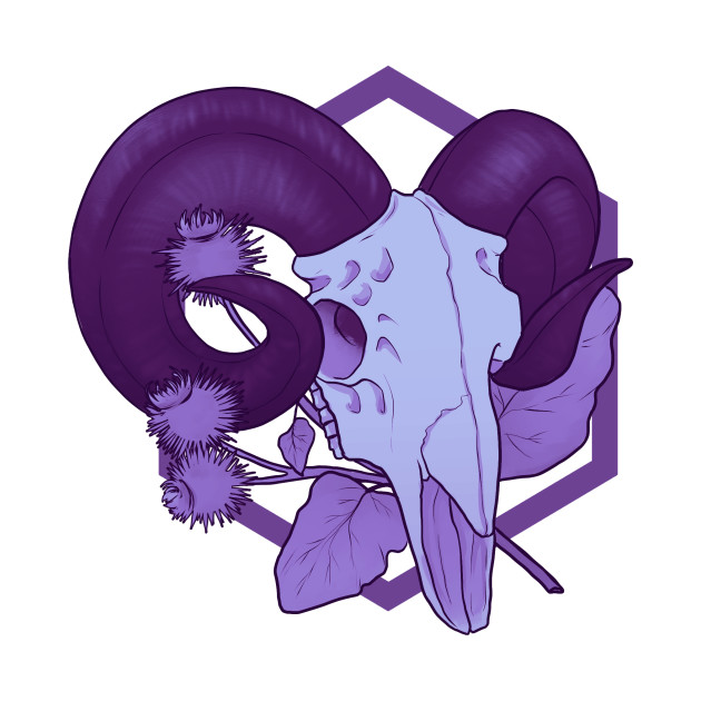 Purple Ram Skull and Burdock