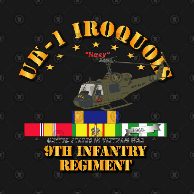 UH-1 - 9th Infantry - Front Oblique  Vietnam w VN SVC Medals