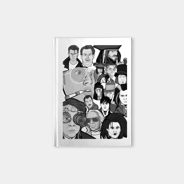 Johnny Depp Character Collage Movies Notebook Teepublic