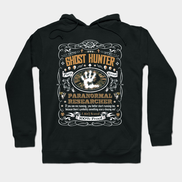 Vintage Whiskey Label Ghost Hunter T-Shirt