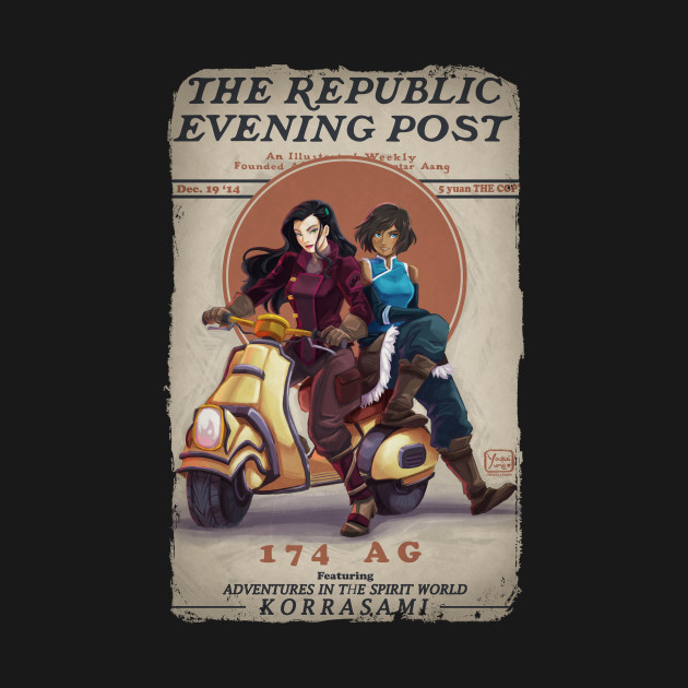 Replublic Evening Post Legend Of Korra Kids T Shirt Teepublic