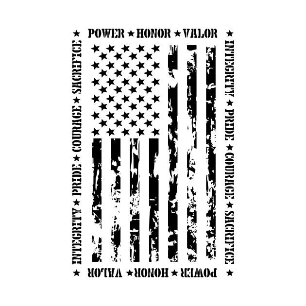 PATRIOTIC U.S. FLAG