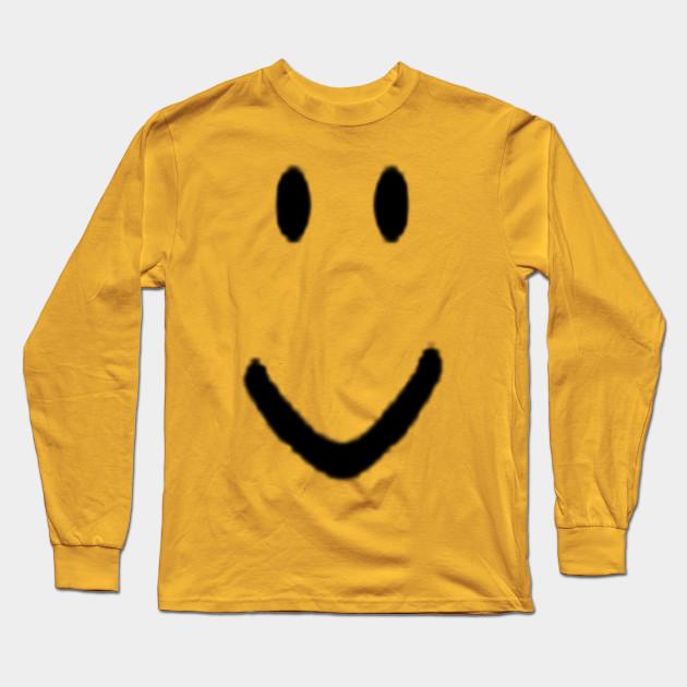 Roblox Halloween Noob Face Costume Roblox Long Sleeve T Shirt