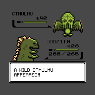 A Wild CTHULHU Appeared! t-shirts