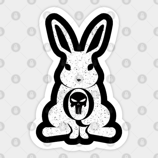 Qanon Rabbit Punisher Qanon Sticker Teepublic Uk
