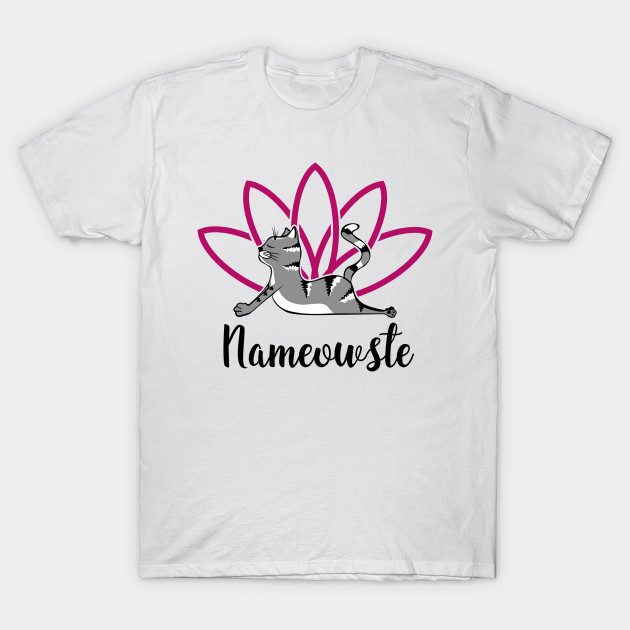 121ab948e Nameowste Funny Yoga Cat - Namaste Yoga - T-Shirt | TeePublic