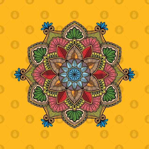 80's Pop Art Mandala