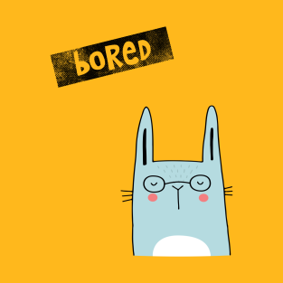 Bored rabbit t-shirts