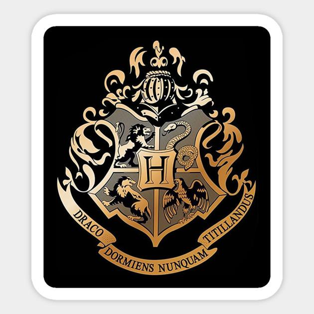 Hogwarts logo - Harry Potter - Sticker | TeePublic UK