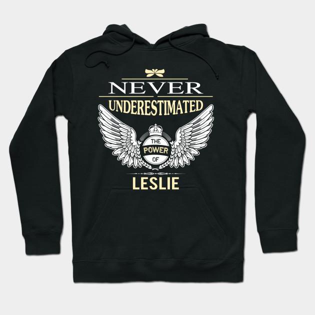 Never Underestimate The Power of Lesley Hoodie Black