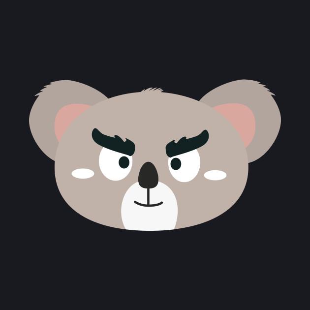 Angry koala head