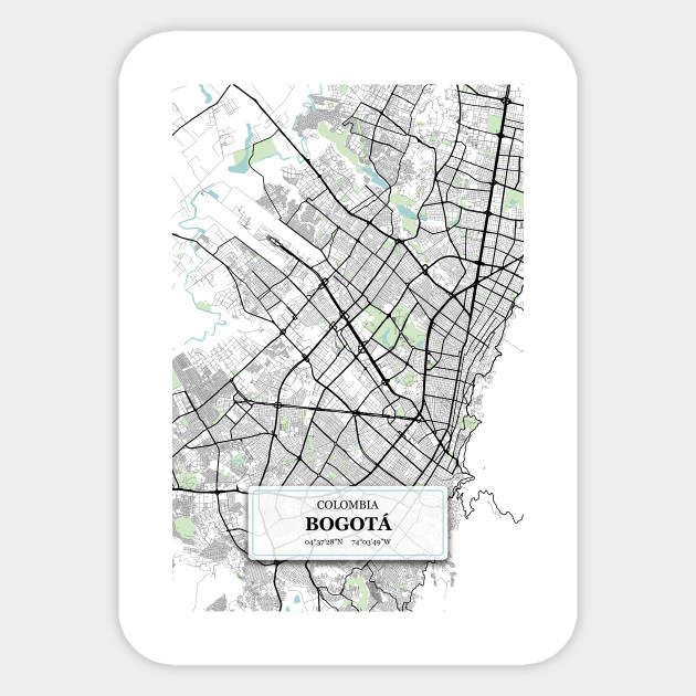 Bogota, Colombia City Map with GPS Coordinates