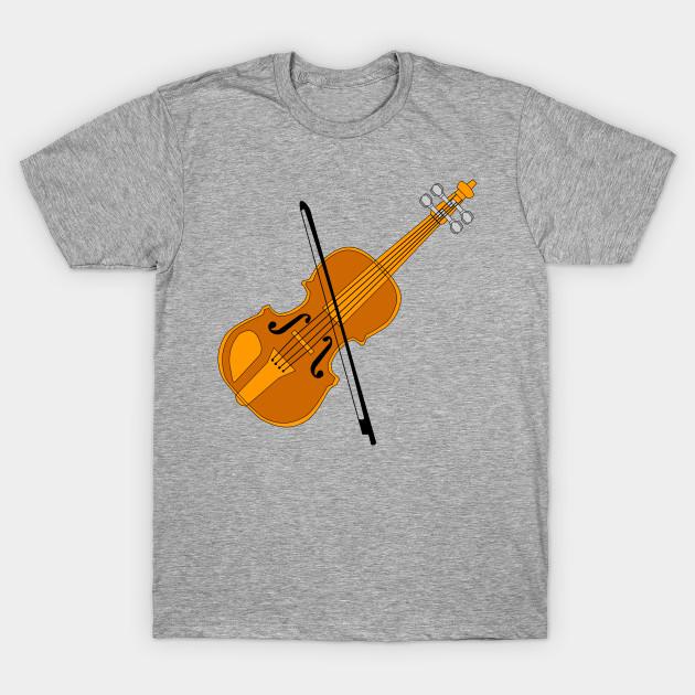 b83476e5 Violin Drawing Black Bow - Violin - T-Shirt   TeePublic