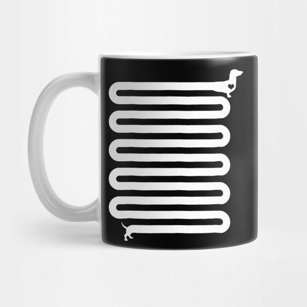 Dachshund mug funny gift dog dad trip over my weiner husband mug